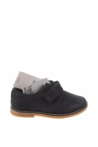 Детски обувки Zara, Размер 24, Цвят Син, Естествен велур, Цена 19,75лв.