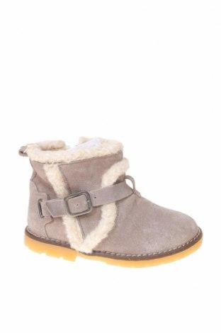 Încălțăminte pentru copii Zara, Mărime 23, Culoare Gri, Velur natural, Preț 146,38 Lei