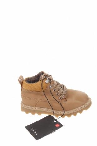 Детски обувки Zara, Размер 22, Цвят Бежов, Еко кожа, Цена 17,25лв.