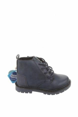 Детски обувки Zara, Размер 21, Цвят Син, Еко кожа, Цена 26,55лв.