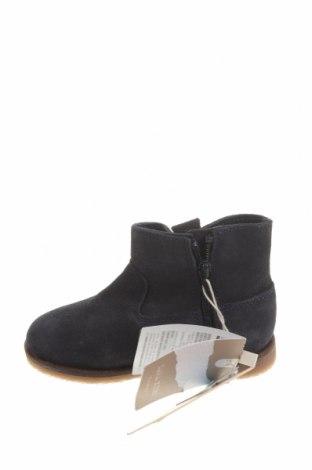 Детски обувки Zara, Размер 21, Цвят Син, Естествен велур, Цена 18,17лв.