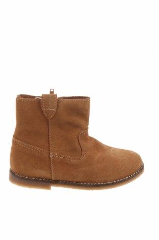 Детски обувки Zara, Размер 26, Цвят Кафяв, Естествен велур, Цена 96,75лв.