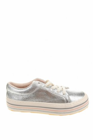 Детски обувки Zara, Размер 32, Цвят Сребрист, Еко кожа, Цена 44,25лв.