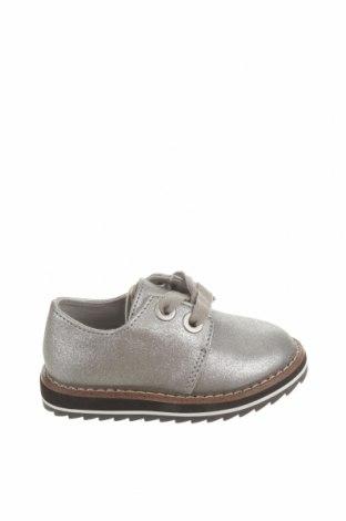 Детски обувки Zara, Размер 20, Цвят Сребрист, Еко кожа, Цена 44,25лв.