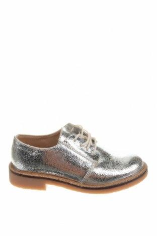 Детски обувки Zara, Размер 32, Цвят Сребрист, Естествена кожа, Цена 59,25лв.