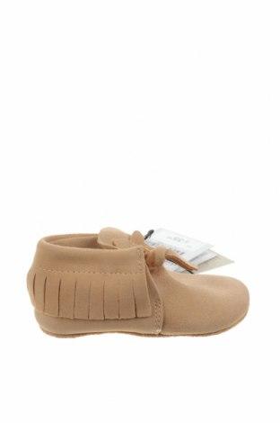 Dětské boty  Zara, Velikost 17, Barva Béžová, Pravá kůže, Cena  587,00Kč