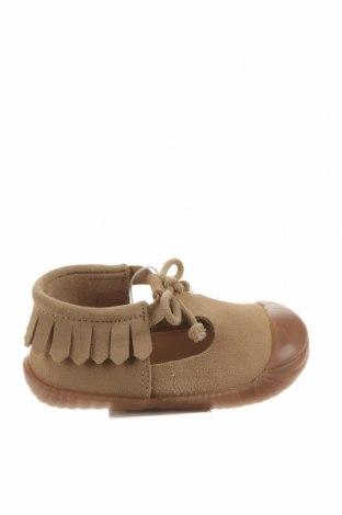 Dětské boty  Zara, Velikost 19, Barva Béžová, Přírodní velur , Cena  750,00Kč