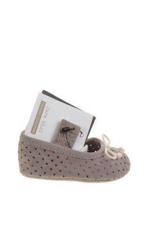 Dětské boty  Zara, Velikost 15, Barva Šedá, Pravá kůže, Cena  641,00Kč