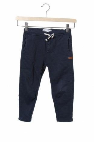 Dětské kalhoty  Zara, Velikost 3-4y/ 104-110 cm, Barva Modrá, 63% bavlna, 34% lyocell, 3% elastan, Cena  402,00Kč