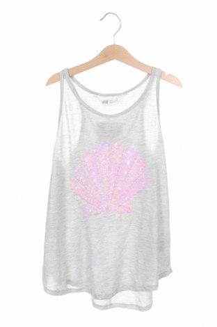 Μπλουζάκι αμάνικο παιδικό H&M, Μέγεθος 12-13y/ 158-164 εκ., Χρώμα Γκρί, Πολυεστέρας, Τιμή 10,21€
