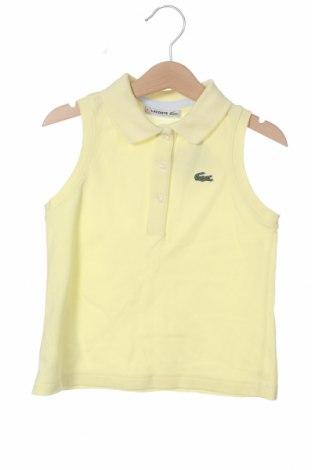 Μπλουζάκι αμάνικο παιδικό Lacoste, Μέγεθος 7-8y/ 128-134 εκ., Χρώμα Κίτρινο, Τιμή 16,70€