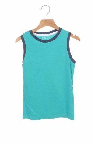Μπλουζάκι αμάνικο παιδικό Mo, Μέγεθος 6-7y/ 122-128 εκ., Χρώμα Μπλέ, Βαμβάκι, Τιμή 4,42€