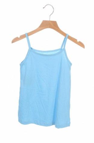 Μπλουζάκι αμάνικο παιδικό Mo, Μέγεθος 4-5y/ 110-116 εκ., Χρώμα Μπλέ, Βαμβάκι, Τιμή 4,33€