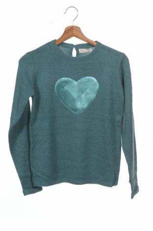 Παιδικό πουλόβερ ZY kids, Μέγεθος 11-12y/ 152-158 εκ., Χρώμα Πράσινο, Ακρυλικό, Τιμή 14,65€