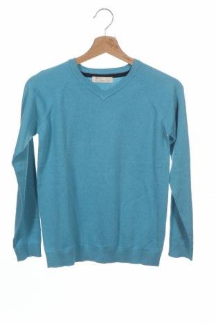 Детски пуловер ZY kids, Размер 10-11y/ 146-152 см, Цвят Син, 70% памук, 30% полиамид, Цена 49,00лв.