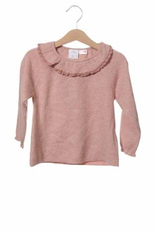 Παιδικό πουλόβερ Zara, Μέγεθος 18-24m/ 86-98 εκ., Χρώμα Ρόζ , 47% βισκόζη, 31% πολυεστέρας, 22% πολυαμίδη, Τιμή 11,66€
