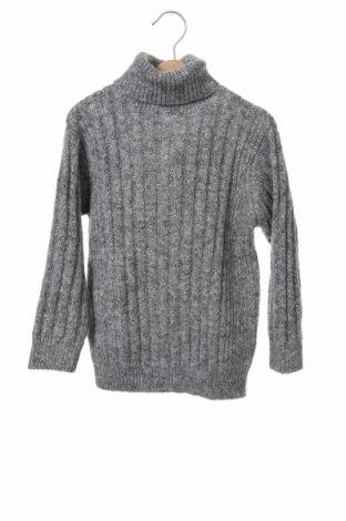 Детски пуловер Zara, Размер 6-7y/ 122-128 см, Цвят Сив, 59% полиестер, 20% акрил, 20% памук, 1% еластан, Цена 31,50лв.