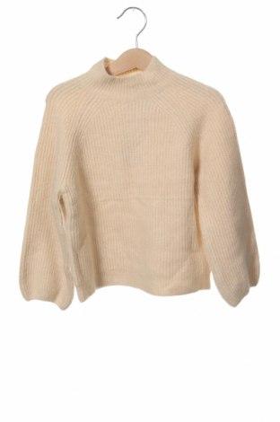 Παιδικό πουλόβερ Zara, Μέγεθος 3-4y/ 104-110 εκ., Χρώμα  Μπέζ, 46%ακρυλικό, 30% πολυαμίδη, 9% πολυεστέρας, 5% μαλλί, 5% ελαστάνη, 5% μεταλλικά νήματα, Τιμή 11,66€