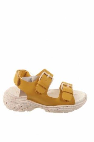 Sandale pentru copii Zara, Mărime 26, Culoare Galben, Piele ecologică, Preț 85,53 Lei