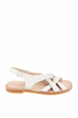 Детски сандали Zara, Размер 32, Цвят Екрю, Еко кожа, Цена 36,75лв.