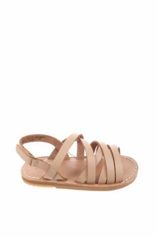 Детски сандали Zara, Размер 21, Цвят Бежов, Естествена кожа, Цена 44,25лв.