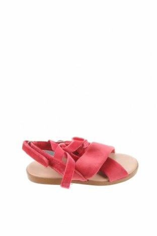 Детски сандали Zara, Размер 21, Цвят Розов, Текстил, Цена 31,50лв.