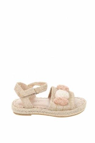 Детски сандали Zara, Размер 26, Цвят Бежов, Текстил, Цена 36,75лв.