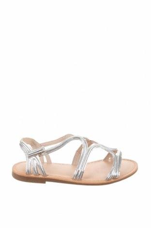 Детски сандали Zara, Размер 34, Цвят Сив, Еко кожа, Цена 10,50лв.