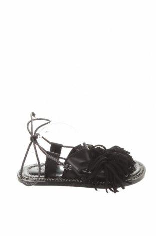 Детски сандали Zara, Размер 32, Цвят Черен, Естествена кожа, естествен велур, Цена 17,25лв.