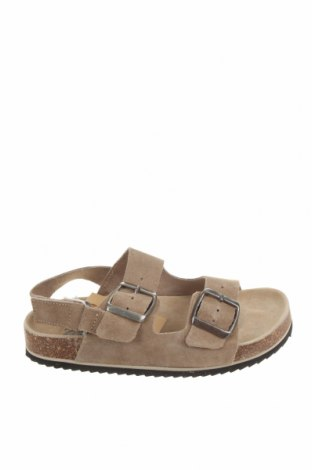 Детски сандали Zara, Размер 31, Цвят Сив, Естествен велур, Цена 31,05лв.