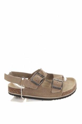Детски сандали Zara, Размер 29, Цвят Бежов, Естествен велур, Цена 31,05лв.