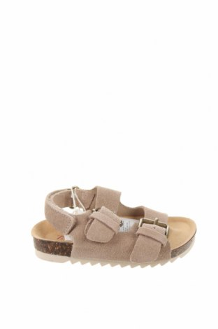 Детски сандали Zara, Размер 20, Цвят Бежов, Естествен велур, Цена 12,42лв.