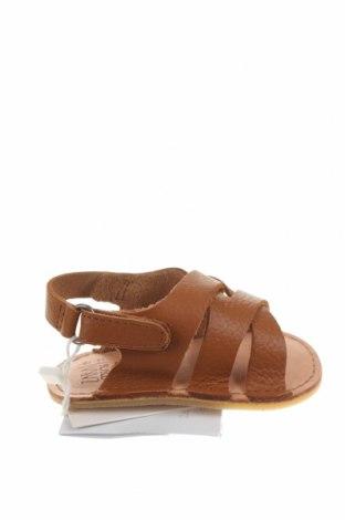 Детски сандали Zara, Размер 15, Цвят Кафяв, Естествена кожа, Цена 51,75лв.