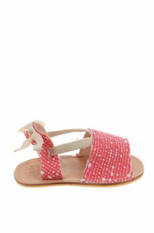Детски сандали Zara, Размер 17, Цвят Червен, Текстил, Цена 31,50лв.