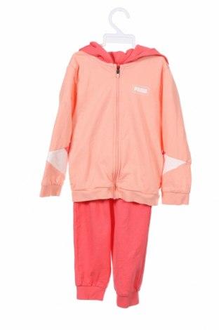Детски спортен комплект PUMA, Размер 2-3y/ 98-104 см, Цвят Розов, 96% памук, 4% еластан, Цена 49,77лв.