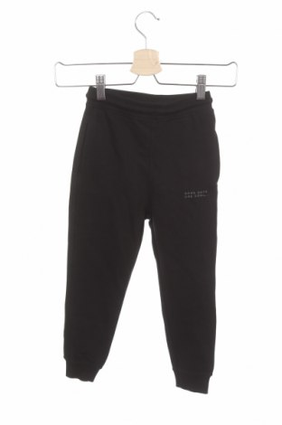 Детско спортно долнище Zara, Размер 4-5y/ 110-116 см, Цвят Черен, 80% памук, 20% полиестер, Цена 27,00лв.