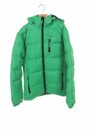 Детско спортно яке Trespass, Размер 10-11y/ 146-152 см, Цвят Зелен, Полиестер, Цена 41,30лв.