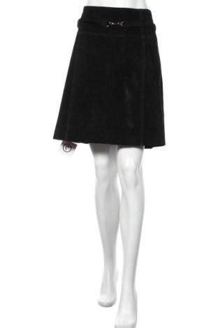 Кожена пола Atelier GARDEUR, Размер L, Цвят Черен, Естествен велур, Цена 54,81лв.
