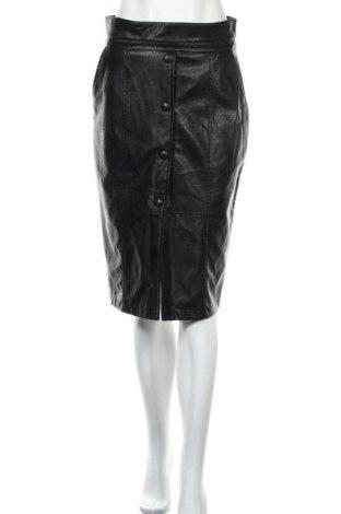 Δερμάτινη φούστα Imperial, Μέγεθος M, Χρώμα Μαύρο, Δερματίνη, Τιμή 10,52€
