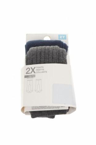 Комплект ZY kids, Размер 1-2m/ 50-56 см, Цвят Син, 77% памук, 21% полиамид, 2% еластан, Цена 9,36лв.