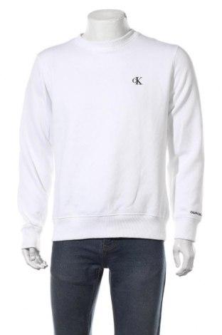 Bluză de bărbați Calvin Klein Jeans, Mărime M, Culoare Alb, 50% bumbac, 50% poliester, Preț 293,59 Lei