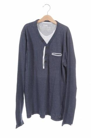 Мъжка блуза Core By Jack & Jones, Размер L, Цвят Син, Памук, Цена 27,00лв.