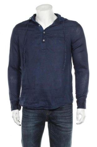 Мъжка блуза Zara Man, Размер M, Цвят Син, Лен, Цена 33,00лв.