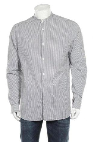 Мъжка риза H&M, Размер L, Цвят Бял, Памук, Цена 17,25лв.