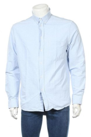 Мъжка риза H&M, Размер L, Цвят Син, Памук, Цена 21,00лв.