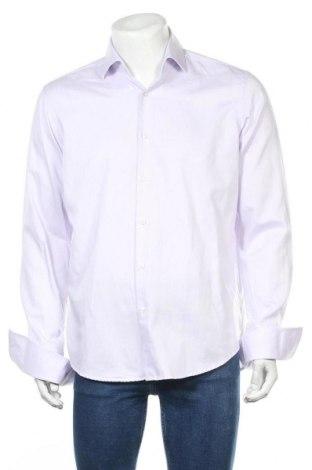 Мъжка риза Hugo Boss, Размер L, Цвят Лилав, Памук, Цена 77,25лв.