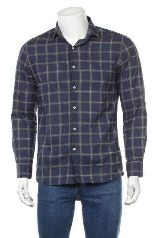 Мъжка риза Mango, Размер M, Цвят Син, Цена 20,25лв.