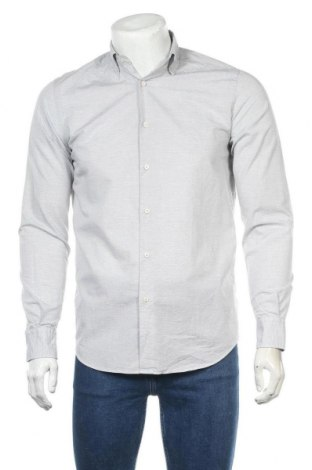 Мъжка риза Massimo Dutti, Размер S, Цвят Сив, 96% памук, 4% полиамид, Цена 32,68лв.