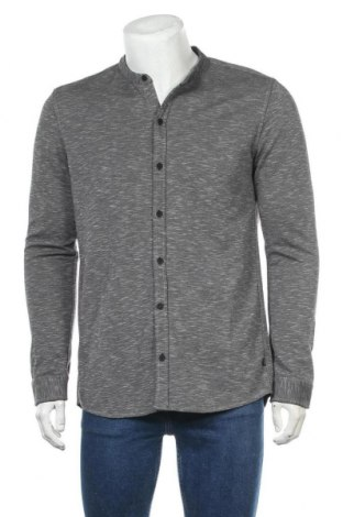 Мъжка риза Q/S by S.Oliver, Размер L, Цвят Сив, 60% полиестер, 40% памук, Цена 29,67лв.