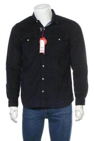 Мъжка риза S.Oliver, Размер M, Цвят Син, Памук, Цена 33,97лв.